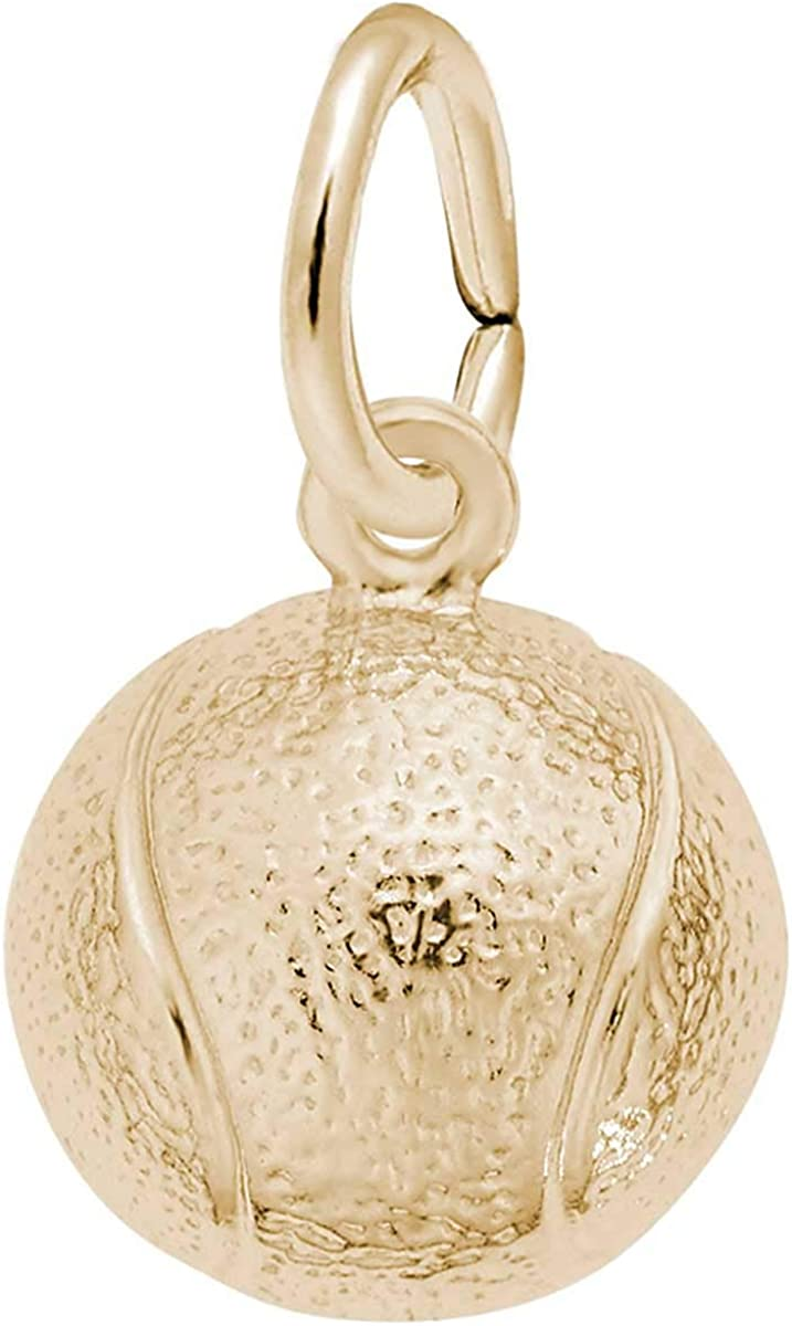 Rembrandt Charms Tennis Ball Genuine OFFicial shop Charm 10K Gold Yellow