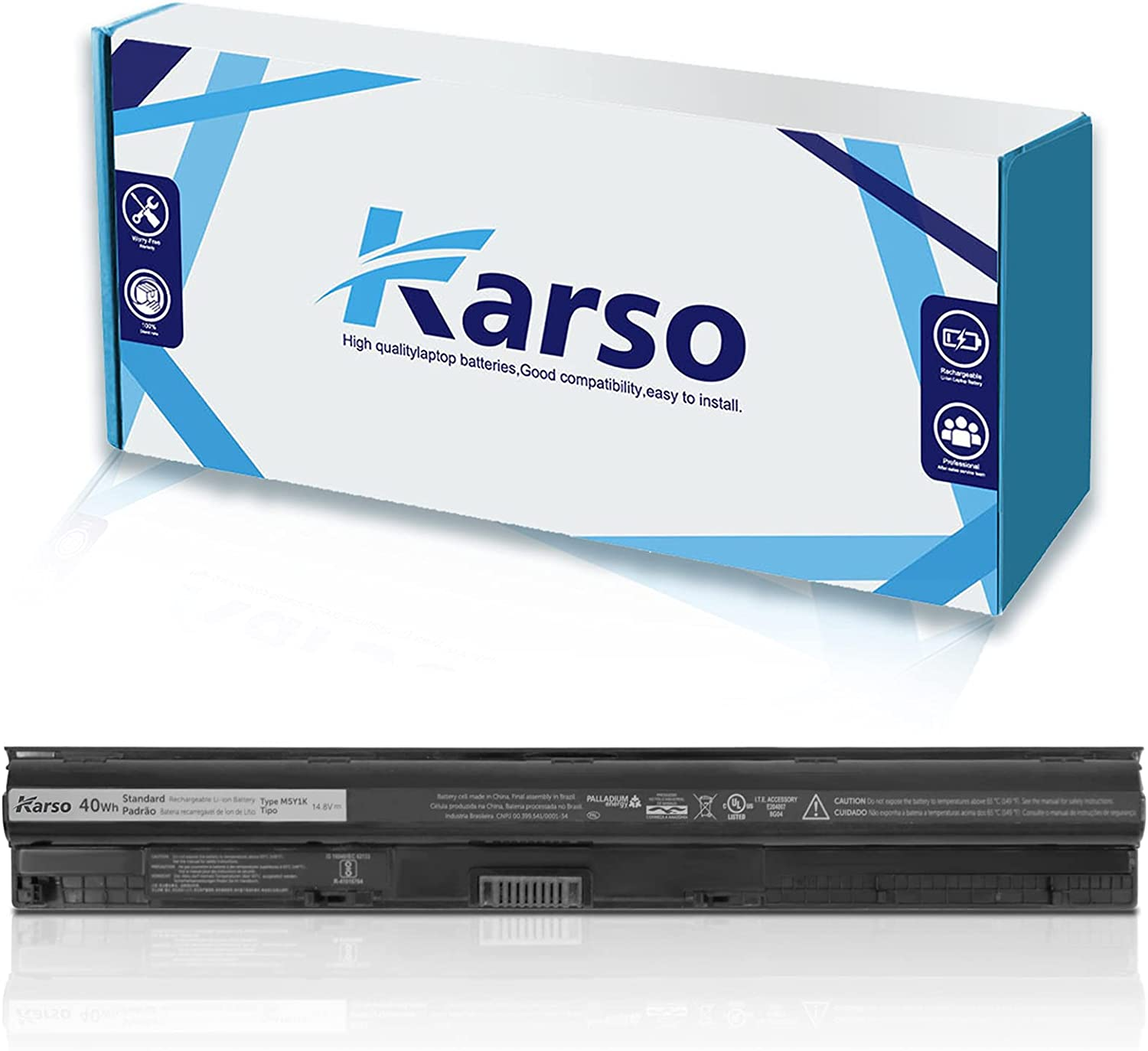 Karso 25% OFF M5Y1K Laptop Battery Compatible with Long Beach Mall Inspiron 14 Dell 15 1