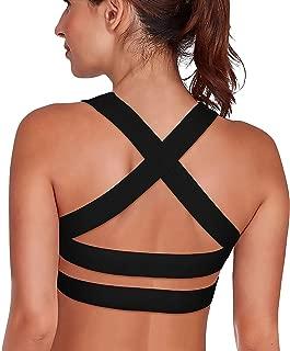 Women's Sports Bra Padded Breathable High Impact Support Criss Cross Back Yoga Bras