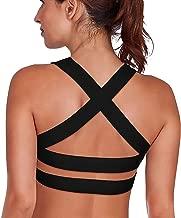 SHAPERX Women's Sports Bra Padded Breathable High Impact Support Criss Cross Back Yoga Bras