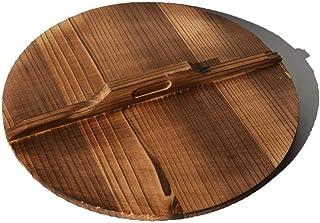 Wok grande, freír Set Pan, estilo antiguo sartén de hierro fundido, sin recubrimiento antiadherente Olla, Universal hierro fundido Wok-Madera Cover_32cm, cocina de inducción / Lavavajillas, Wok Cook B