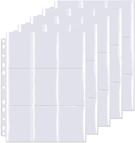 Pochettes pour Cartes,540 Pochettes pour Cartes, Portefeuilles Collectionner avec Poches des Deux côtés, Trading Card...
