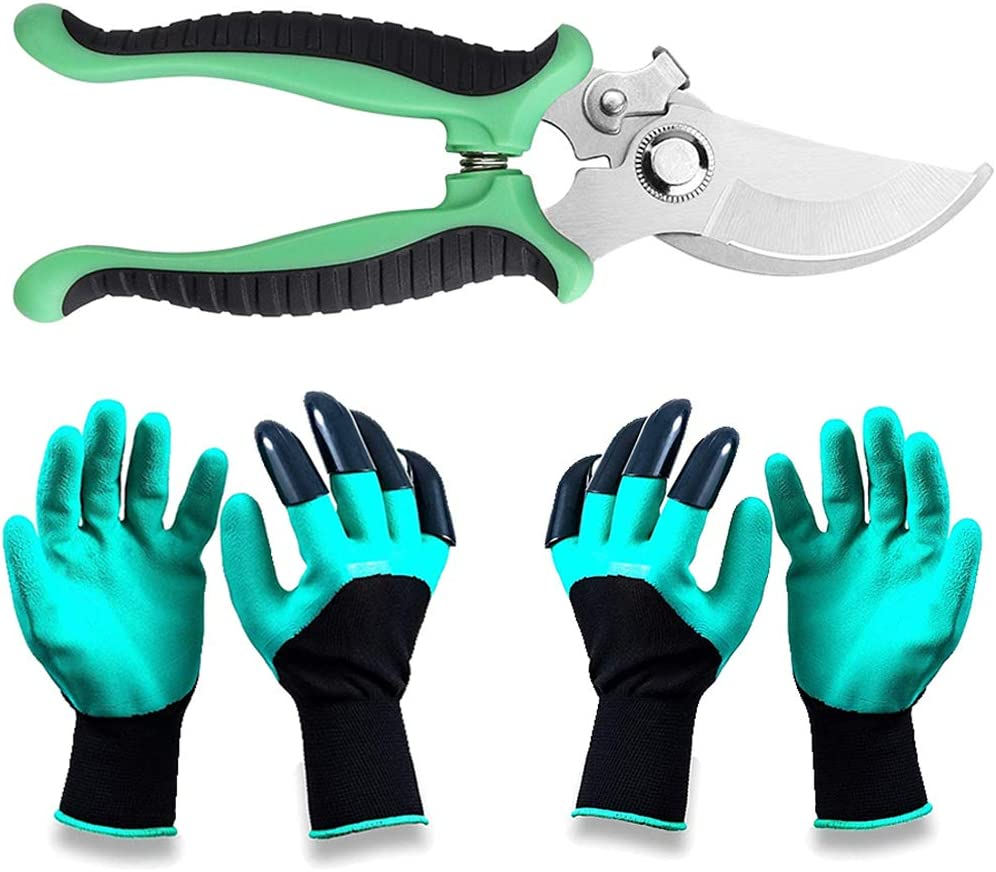 Hai Ge Garden Steel New products, world's highest quality popular! Special Campaign Pruning Shears w 2Pairs Genie Gloves