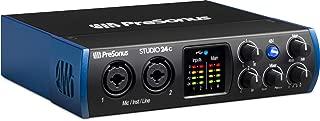 PreSonus Studio 24c 2×2, 192 kHz, USB-C Audio Interface, 2 Mic Pres-2 Line Outs/New Version
