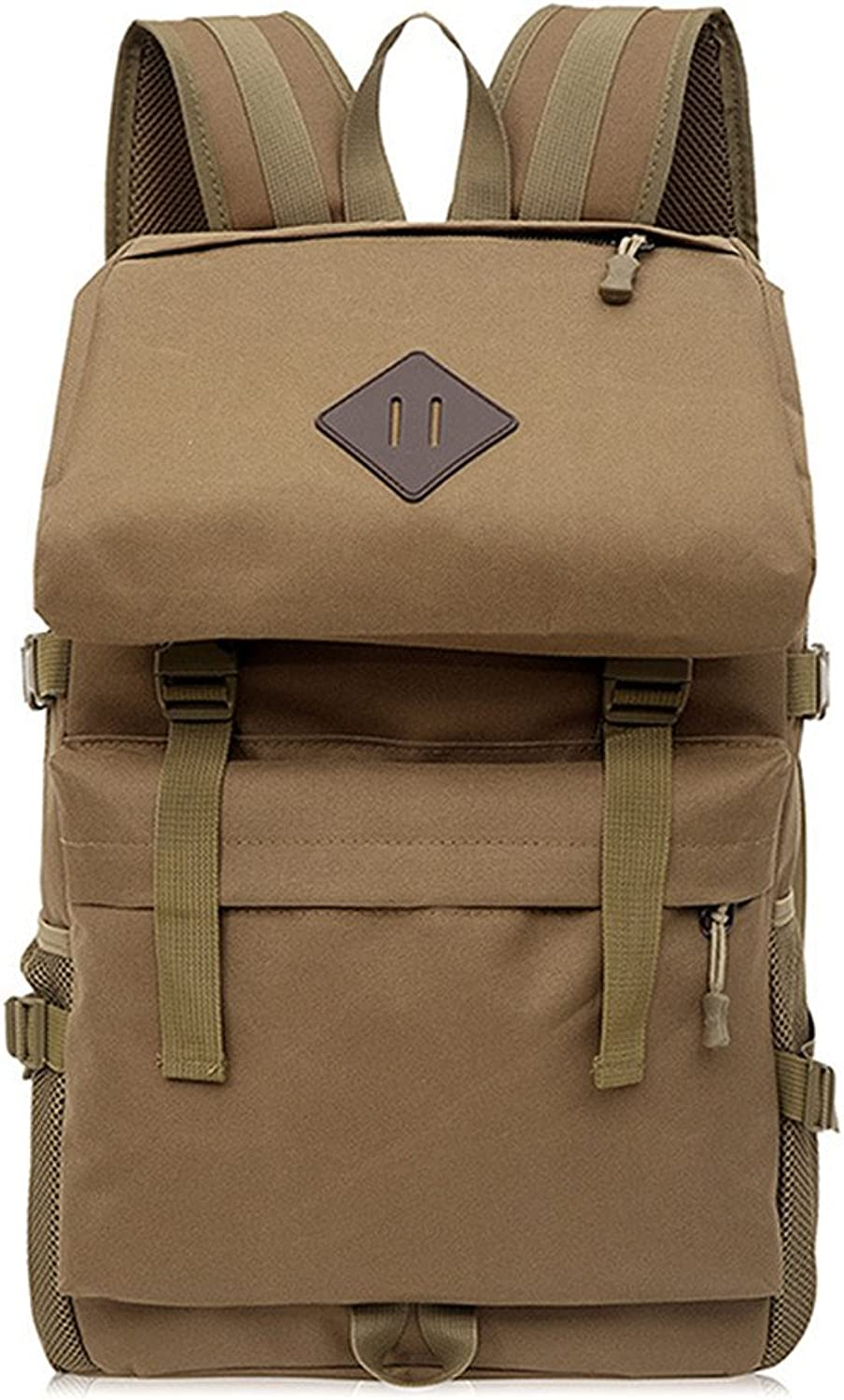 Backpacks Camouflage MultiFunction Mountaineering Bag Travel Camping Hiking Backpack Sports Backpack Waterproof Mountaineering Bag (color   Brown)
