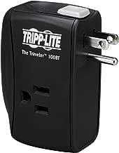 Tripp Lite 2 Outlet Portable Surge Protector Power Strip, Direct Plug in, Tel/Ethernet Protection, $50,000 Insurance (TRAVELER100BT)