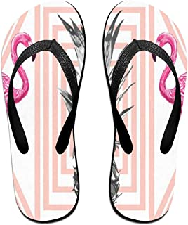 Womens Slippers Tropical Pineapples Flamingos Mens Thong Flip Flops Sandals for Adult Unisex Outdoor