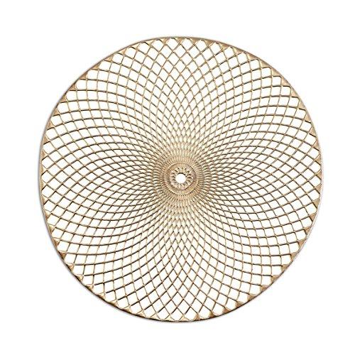 Zeller Platzset, PVC, gold, 38 cm