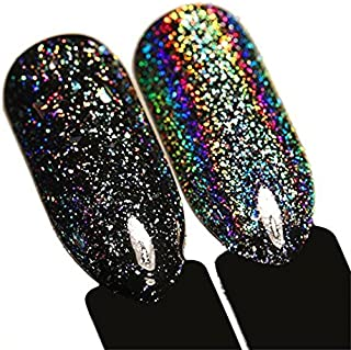 BORN PRETTY Galaxy Iridescent Flakies Bling Laser Nail Sequins holographic Glitter Powder Paillette 1g