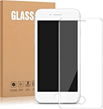 """iPhone 8, 7, 6S, 6 Tempered Glass - Dtdepth Full Coverage Full Adhesive Full Transparent Glass Screen Protector Case Friendly with Transparent Curved Edge to Edge for iPhone 8, 7, 6S, 6 [4.7"""" inch]"""
