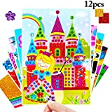 Joyibay 12 Fogli Mosaico Sticker Kit Fai da Te Cartoon Educational Toy Produzione Puzzle E...