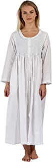 The 1 for U Womens Nightgown - Housecoat - Robe 100% Cotton - Elsa