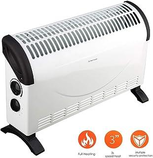 KOKIN Calefactor Eléctrico Calefactor Convector con 3 Ajustes de Calor, Termostato Regulable con Regulador de Potencia para un bajo Consumo,Calefactor de Aire Caliente Apto para Baños
