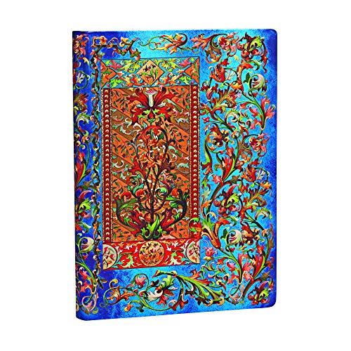 Paperblanks Diari a Copertina Rigida Delphinium | Bianco | Midi (130 × 180 mm)