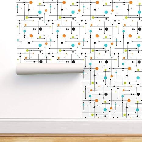 Peel-and-Stick Removable Wallpaper Mid Century Modern Geometric Mod Retro Atomic