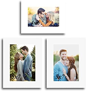 Art Street Decoralicious Set of 3 Individual Photo Frame/Wall Hanging for Home Décor - White