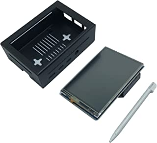 KESOTO Capa protetora ABS para Raspberry Pi 4B 3,5 polegadas TFT Touch Screen 320x480 com Touch Pen