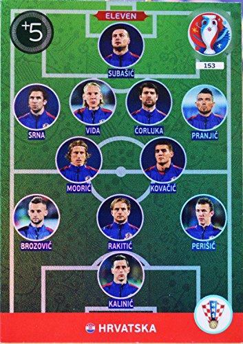 Panini carte EURO 2016#153 Eleven Croatia