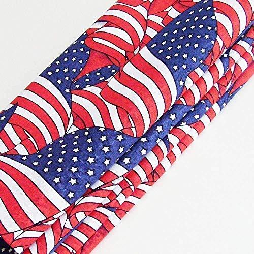Handmade Waving American Flags Napkins (Set of 4-100% Cotton) ME2Designs Table Decor