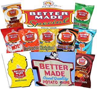 Better Made Special Chips New Variety Pack 8 Flavors of Your Favorite BETTER MADE CHIPS -50/1oz