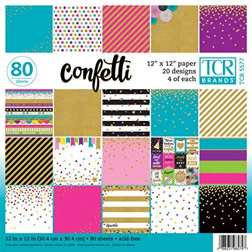 Teacher Created Resources Confetti Scrapbook Project Paper Pad 12' x 12' (TCR5577)