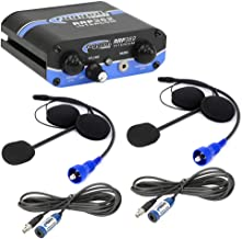 Rugged Radios RRP362 Intercom 2 Place Kit with Built-in Push to Talk Buttons - Includes Helmet Kits and Intercom Cables