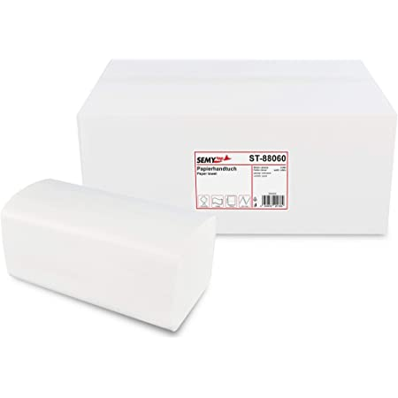 Semy Papierhandtuch 2 Lagig Zz V Falz 25x21 Cm Weiß 1er Pack 1 X 4000 Stück Gewerbe Industrie Wissenschaft