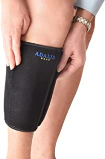 Shin Support Brace Wrap with Ice Gel Pack for Hot and Cold Therapy: Great for Compression and Pain Relief on Splints, Calf Injuries, Forearm Soreness, etc. (Flexible, Reusable and Multi-Purpose)