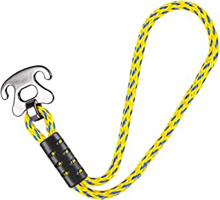 """SELEWARE Tow Rope Quick Connector for Tubing with Stainless Steel Connector, Water Sport Towable Connector 17.9"""""""