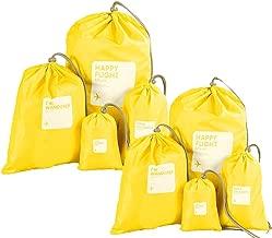 Abaría - Organizadores de bolso impermeable (8 unidades) - Bolsas de cuerda para viaje deporte gimnasio - Bolsa de almacenamiento nylon - Bolsas sacos para viajar, bebé, colegio, lavandería, juguetes