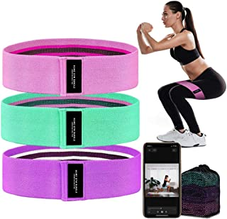 Booty Bands 3 Resistance Bands for Legs and Butt Exercise Bands Fitness Bands - Resistance Loops Hip Thigh Glute Bands Non...