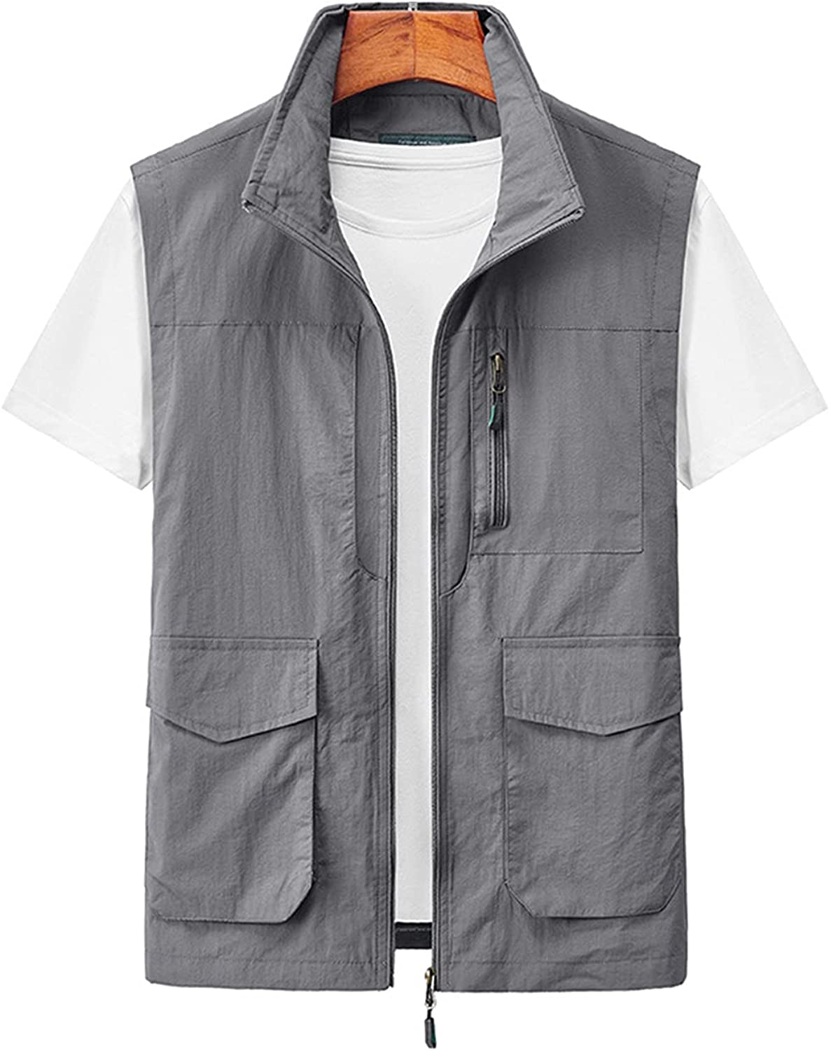 Arssm Men's Summer Casual Outdoor Lightweight Fishing Photography Vest with Pockets