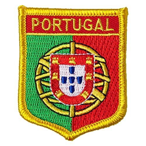 Gestickter Aufnäher Bügelbild Patch Aufbügler Iron on Applikation (1, Flagge Portugal)