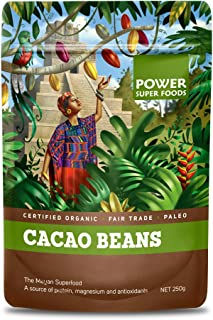 Power Superfoods Organic Raw Cacao Beans 250 g