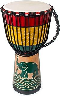 lotmusic Djembe African Drum Bongo Congo Stardard Size Mahogany Goatskin Drumhead professional