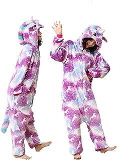 Adult Unicorn Plush Onesie Autumn Winter Cotton Pajamas Women Men Halloween Cosplay One-Piece Colorful Animal Costume