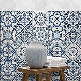 PS00103 - Juego de 12 adhesivos de PVC para decoración de azulejos de baño y cocina (15 x 15 cm)