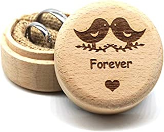 Creating Made Fun Wedding Ring Box,Wooden Ring Bearer Box,Valentines Engagement Ring Holder