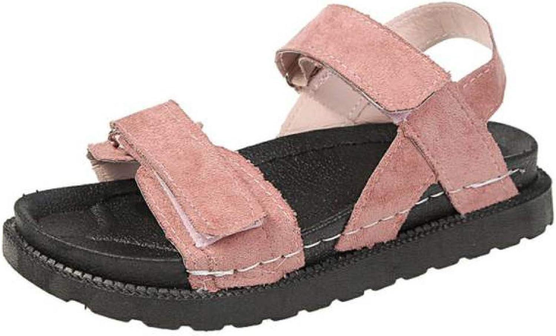 JOYBI Women Casual Platform Sandals Fashion Soft Soles Comfort Slip On Hook Loop Open Toe Outdoor Flat shoes