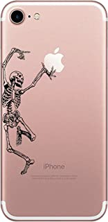 Matop Compatible/Replacement for iPhone 7 / iPhone 8 Case Clear Shockproof Ultra Thin Protective Phone Case Soft Silicone Cute Slim TPU Bumper Cover for iPhone 8/7 4.7 inch (Dancing Skeleton)