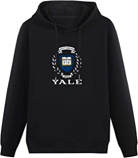Gifts for Men Yale University Logo Hoodies Long Sleeve Pullover Loose Hoody Sweatershirt Size