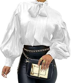 Camisa Steampunk Elegantes de Invierno para Mujer, Cuello de Lazo