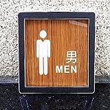 BENOHAOH Puerta de Grano de Madera Muestra de Inodoro Retro WC Etiquetas de Pared Números de señalización Dirección Menores Mujeres Acrílico Placa de Puerta Placa de Alivio Placa de Placa (Color : H)