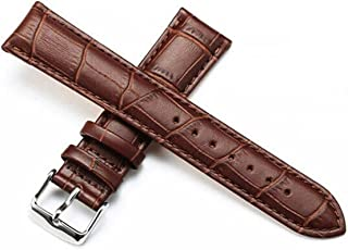 6ae97361102 Genuine Leather Watch Band for Men Women Replacement Watch Strap Black  Brown 12mm 14mm 16mm 18mm