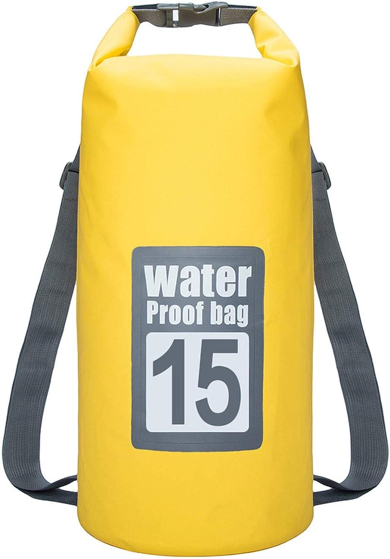 30L Waterproof Swimming Bag Storage Dry Sack Bag for Canoe Kayak Rafting Outdoor Sport Swimming Bags Travel Kit Backpack,Light Yellow