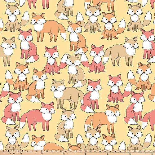 David Textiles Fox Crowd Blizzard Fleece 60', Yellow Yard