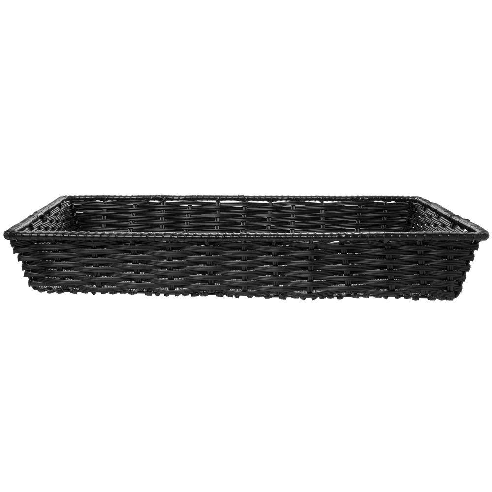 Wicker Storage Super Special SALE held Basket Black Plastic Free Shipping New - 18