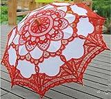 Ankko Sonnenschirm im Western-Stil, romantische Spitze, Hochzeits-Sonnenschirm, Foto-Requisiten, Kostüm, Regenschirm, Stockschirm, Weiß