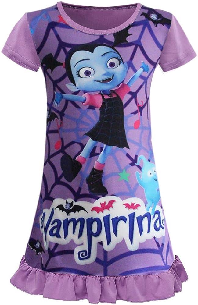 AOVCLKID Little Girls Princess Pajamas Toddler Cartoon Print Pjs Sleepwear