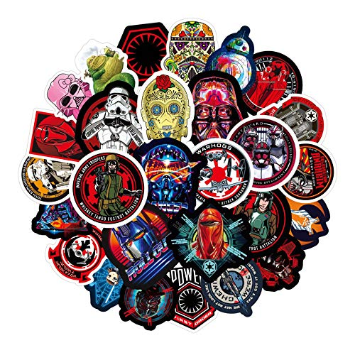LZWNB Graffiti Star Wars Pegatinas de juguete superhéroe monopatín motocicleta caja de dibujos animados pegatinas 50 piezas